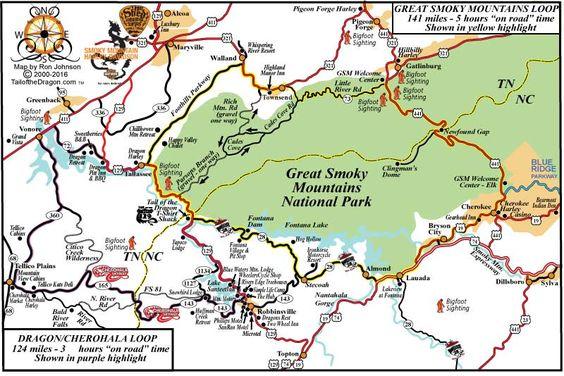 Smoky Mtn Loop Map